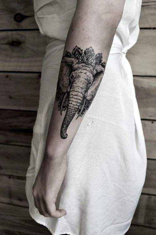 Arm Elephant Tattoo for Girls