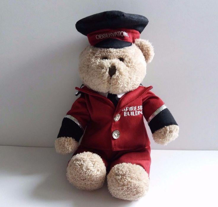 "Empire State Building Plush Teddy Bear Observatory Doorman Uniform 12""  #Unbranded"