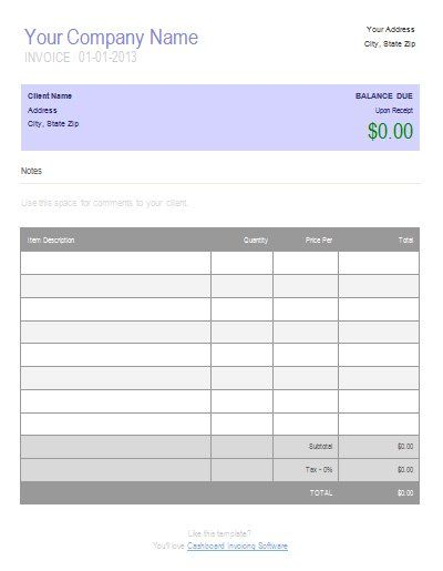 33 Professional Grade Free Invoice Templates for MS Word