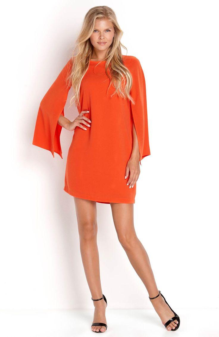 Sukienka w modnym kolorze pomarańczowym marki VERO MODA, 199 zł na http://www.halens.pl/moda-damska-na-gore-5750/sukienka-ava-568754?imageId=413052&variantId=568754-0004