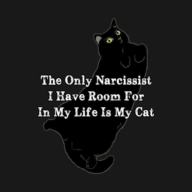 Check out this awesome 'Narcissist+Cat' design on @TeePublic!
