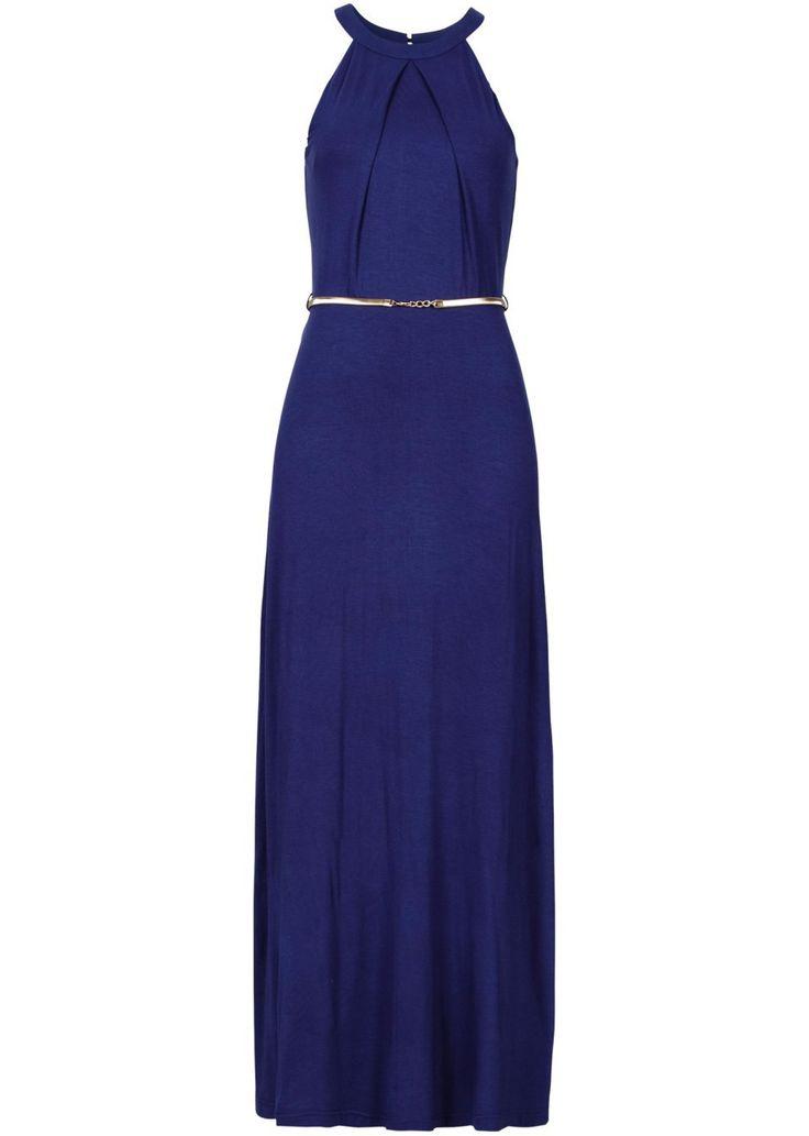 Długa sukienka z paskiem Piękna długa • 129.99 zł • bonprix