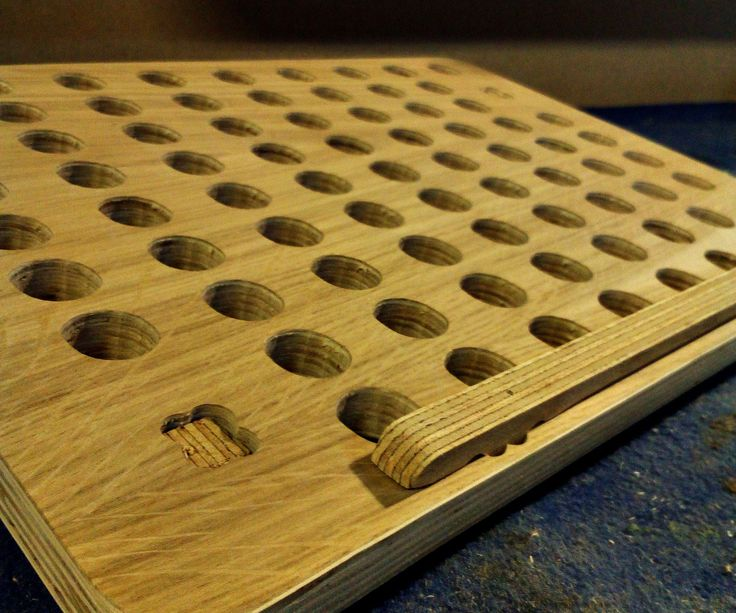 Plywood laptop stand