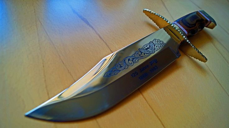 Herbertz Solingen Jubiläums Bowie Messer Anniversary Knife Japan made Sammler Collector Messerclub 125 Jahre  1868 - 1993