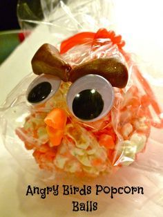 Family Fun Night with Angry Birds XBox 360 game and Angry Birds Popcorn Balls