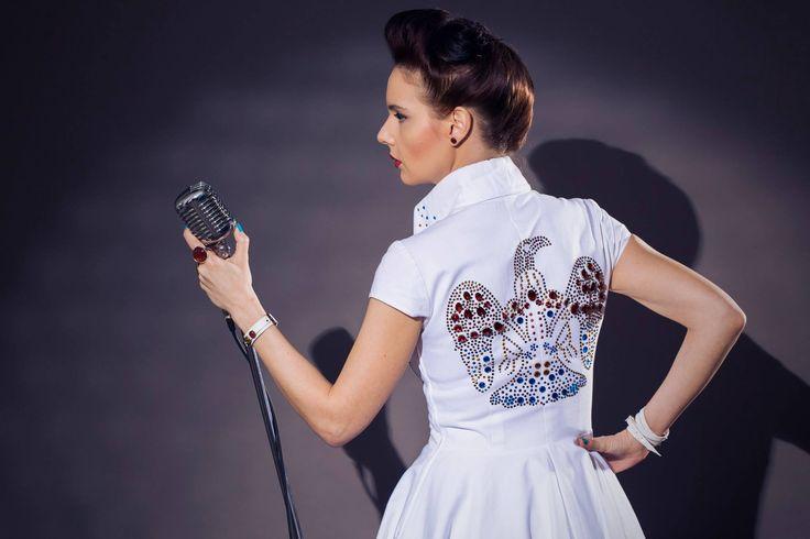 Elvis style dress elvis las vegas wedding rockabilly for Vegas style wedding dresses