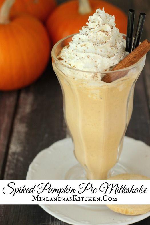 This pumpkin pie milkshake tastes just like whirled up pumpkin pie ...