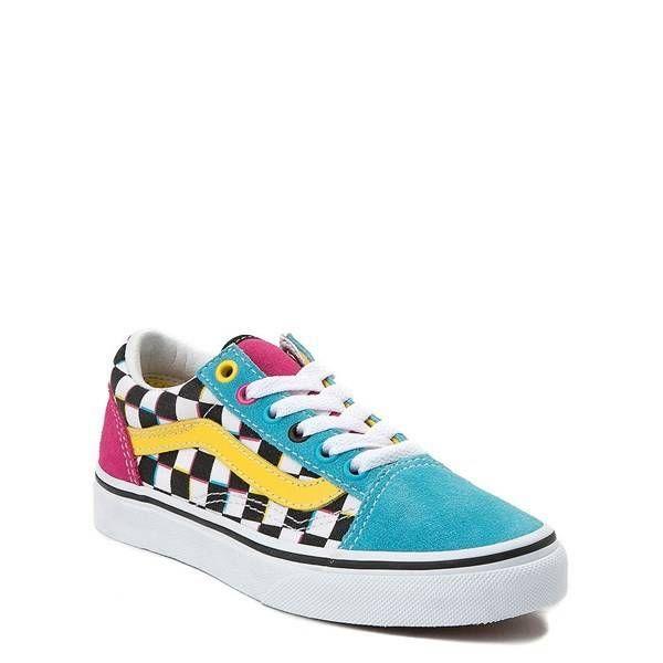Vans Old Skool Chex Skate Shoe - Little