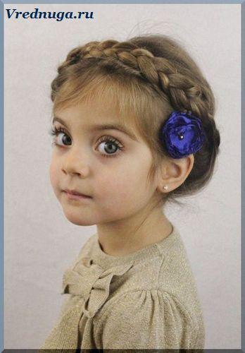 Коса - маленькая принцесса. Колоски и косы - прически для девочек