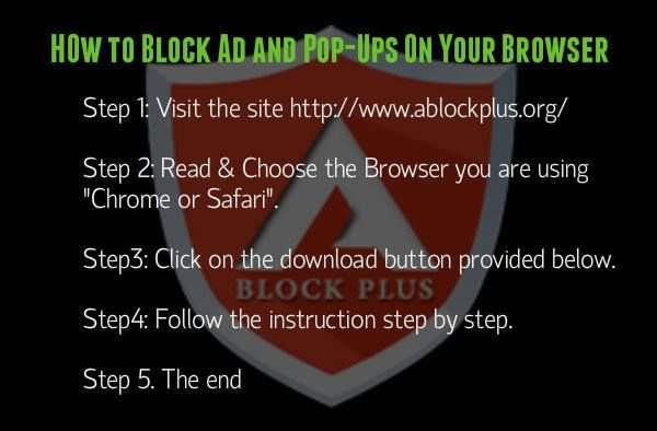 How to block #Ads and #popups on your browser by following these steps.