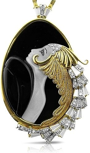 Erte Jewelry Beauty of the Beast Art Deco