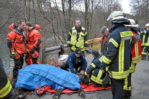 Dramatischer Einsatz: Pferd aus der Wupper gerettet  |   Feuerwehr-Magazin