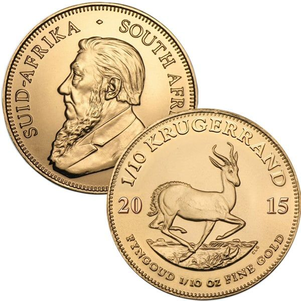 Buy 1 10 Oz South African Krugerrand 22k Gold Coins Money Metals Gold Krugerrand Gold Coins Money Gold Coins