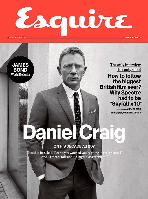 Daniel Craig wearing #GiorgioArmani on the October cover of Esquire UK