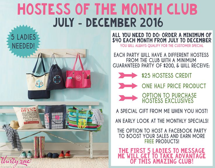 100+ For Thirty One Party Hostess In January 2014 – yasminroohi