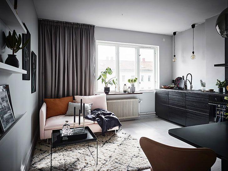 Крошечная, но стильная квартира для девушки (26 кв. м)   Пуфик - блог о дизайне интерьера