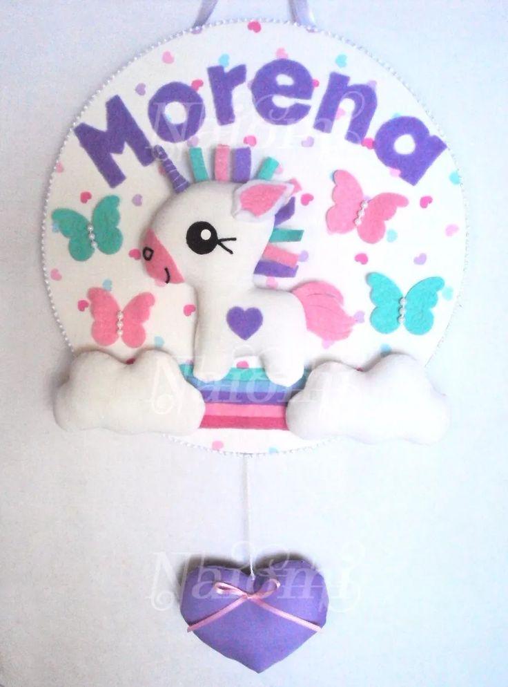 cartel nacimiento bienvenida sanatorio bebe baby unicornio