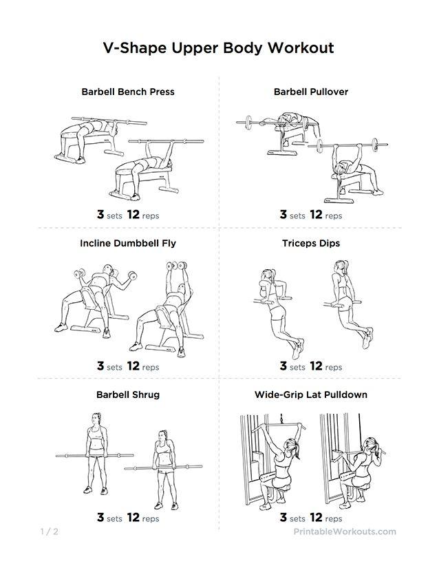 V-Shape Upper Body Workout Plan for Chest, Shoulders