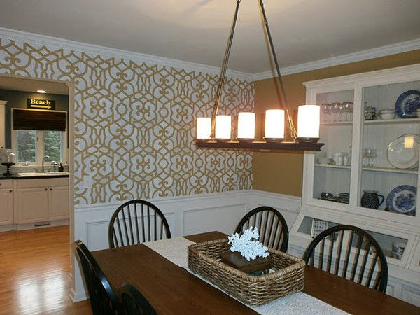 107 best living + dining room stenciling images on pinterest