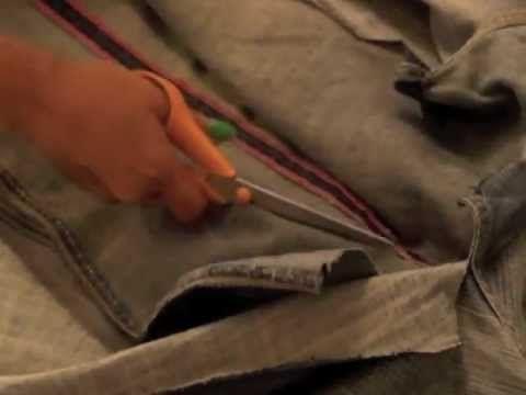 convertir pantalones tejanos en falda