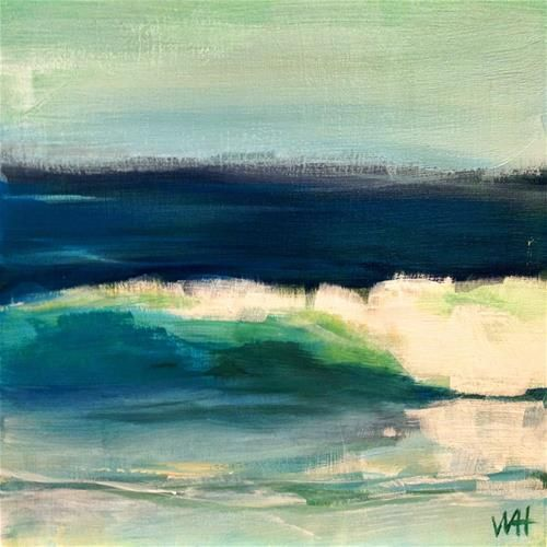 """""""Daily Painting #16, Waves"""" - Original Fine Art for Sale - ©Whitney Heavey"""