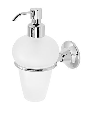 60% OFF Gedy by Nameek's Ascot Collection Wall-Mountable Soap Dispenser, White/Polished Chrome