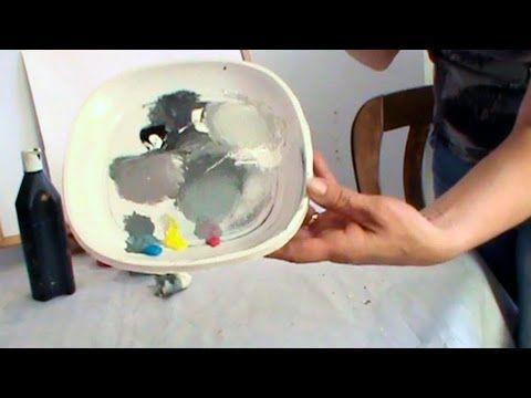 COMO HACER COLOR GRIS, GRIS AZULADO, GRIS PERLA. - YouTube
