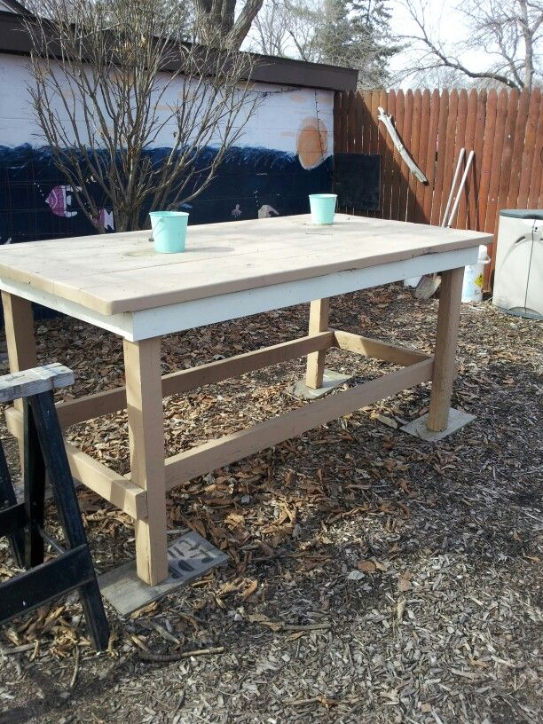 outdoor serving table husbands scrap wood projects