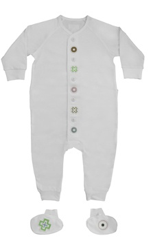 It's important to stay comfy in breathable fabric on planes. Temperature-regulating clothing for babies is genius! Available on ahalife.com