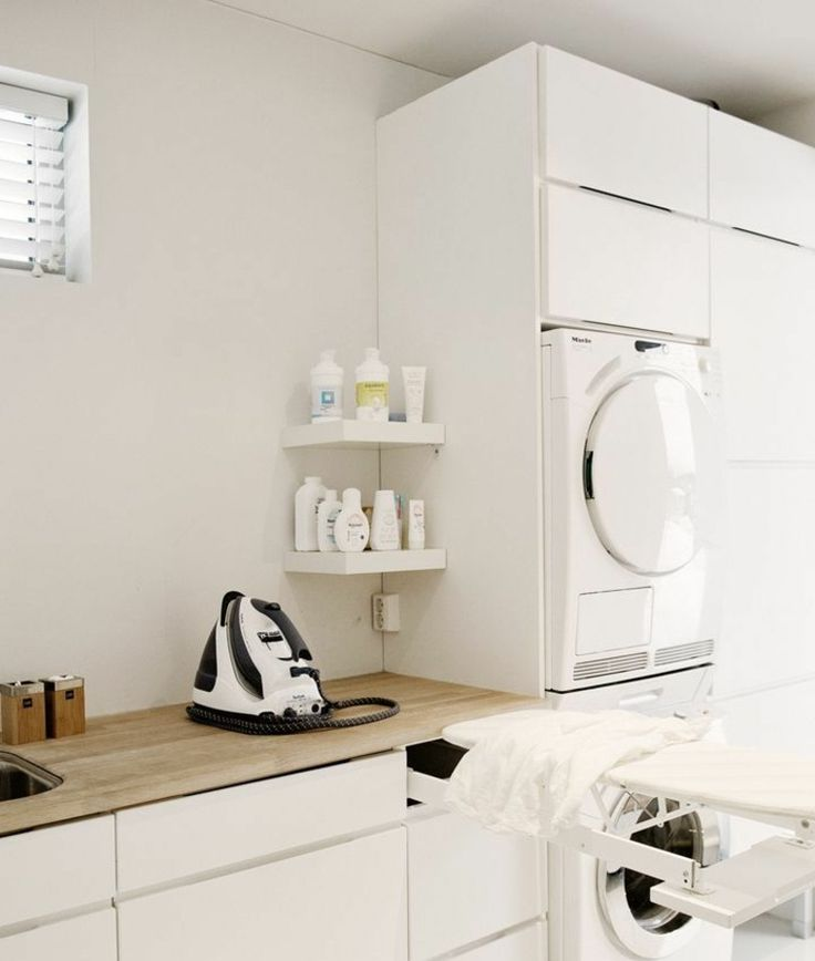 am nagement buanderie 35 exemples pour petites surfaces. Black Bedroom Furniture Sets. Home Design Ideas