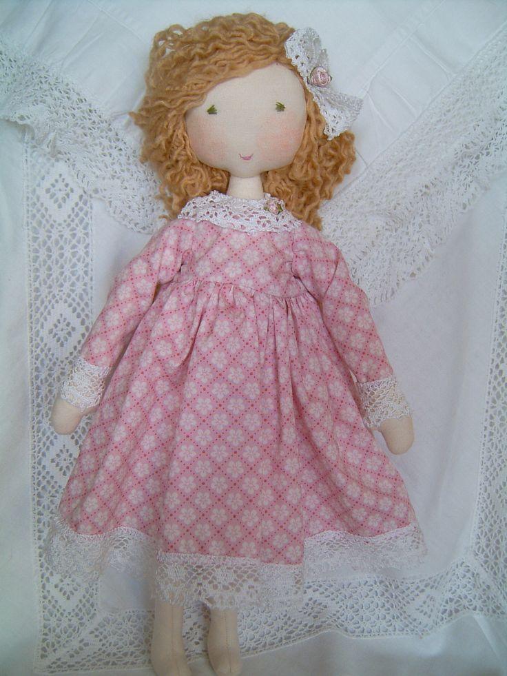 Handmade Rag Doll Mu 209 Ecas Kiss Alexa Wool Dolls
