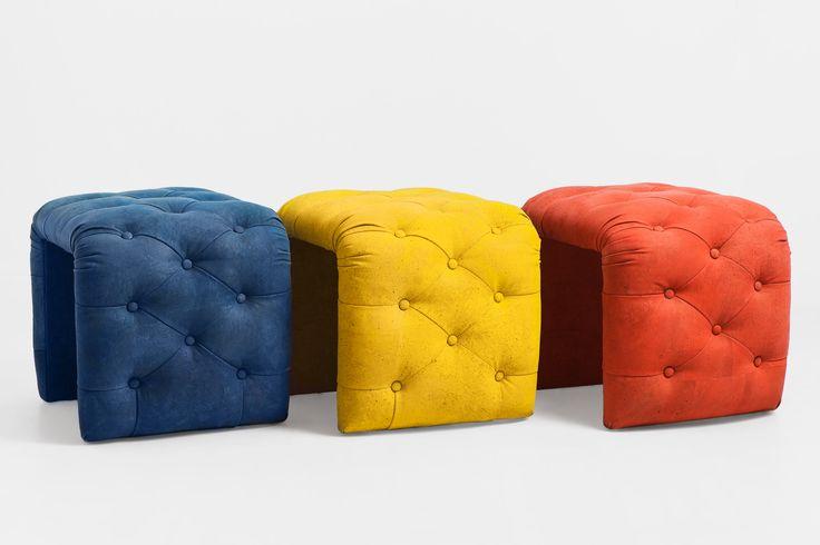 Puff leather cork.  For business relationship: info@creative-cor... #cortiça#cork#liege#kork#design#sughero#furniture#meubles#ecologic# #sideboard #interior #home #decor #wood # #fabric #trends #