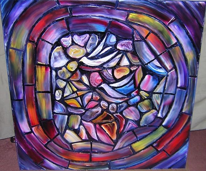 """HOMAGE TO CHAGALL #8  Original Oil Painting 30""""X30""""  by John R Jurisich"""