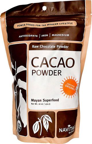 Cacao contains many chemicals that enhance physical and mental well-being, including an incredibly rich supply of magnesium. The Cacao bean also contains more antioxidant flavonoids than Red Wine, Green Tea and Blueberries. Our antioxidant-rich, organic, raw Cacao (Cocoa) powder is processed at low temperatures. The sophisticated process protects the nutrients, vitamins and minerals.