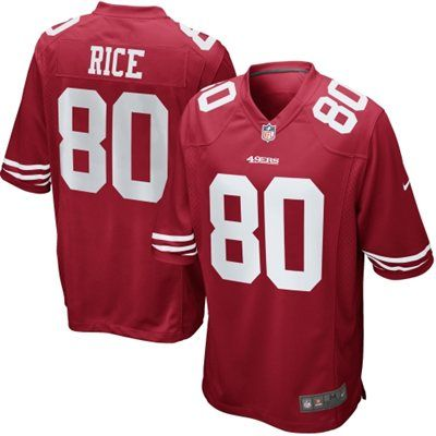 Nike Jerry Rice San Francisco 49ers Retired Game Jersey - Scarlet