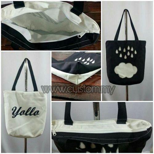 FULLPRINT TOTE BAG . Ingin bergaya dengan tote bag design...