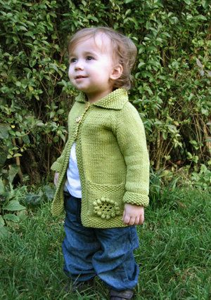 Free Knitting Pattern - Toddler & Children's Clothes: Flora Jacket