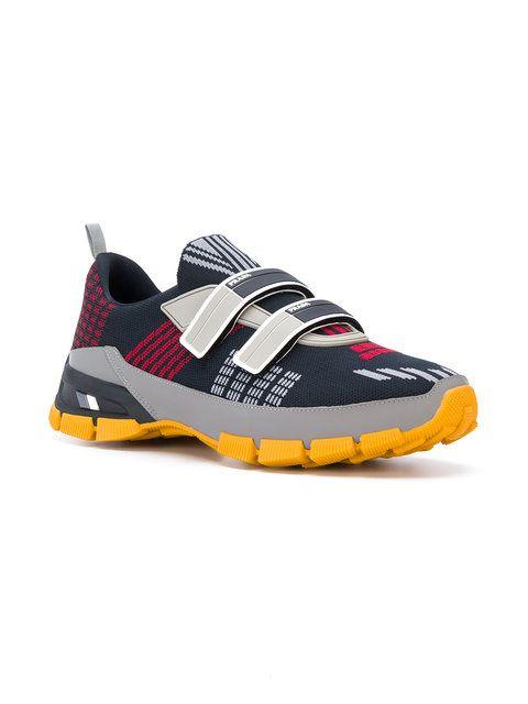 426d74da91ec6 Prada baskets colour block à scratch. Prada Patterned Mesh Sneakers -  Farfetch Colour Block