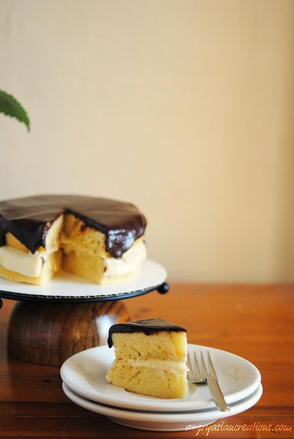 dairy free boston cream pie cake - my Dad would go NUTS over this!!