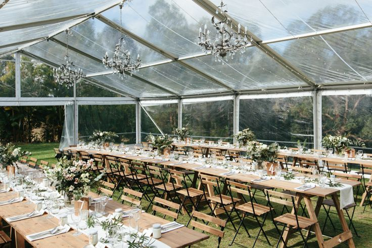 Marquee Wedding Reception // Photography - White Images
