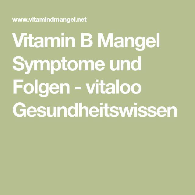 Vitamin B Mangel Symptome und Folgen - vitaloo Gesundheitswissen