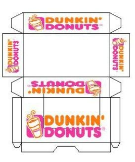 Mini printout Dunkin' Donuts - for Elf donuts
