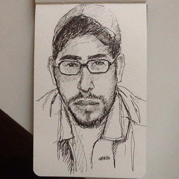 Another redditor. #drawing #sketch #glasses #portrait #tw