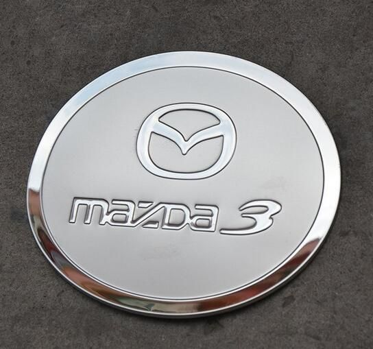 Free shipping! High qulaity Stainless steel gas tank cover/oil tank cover/fuel tank cover  for Mazda 3  2011-2014