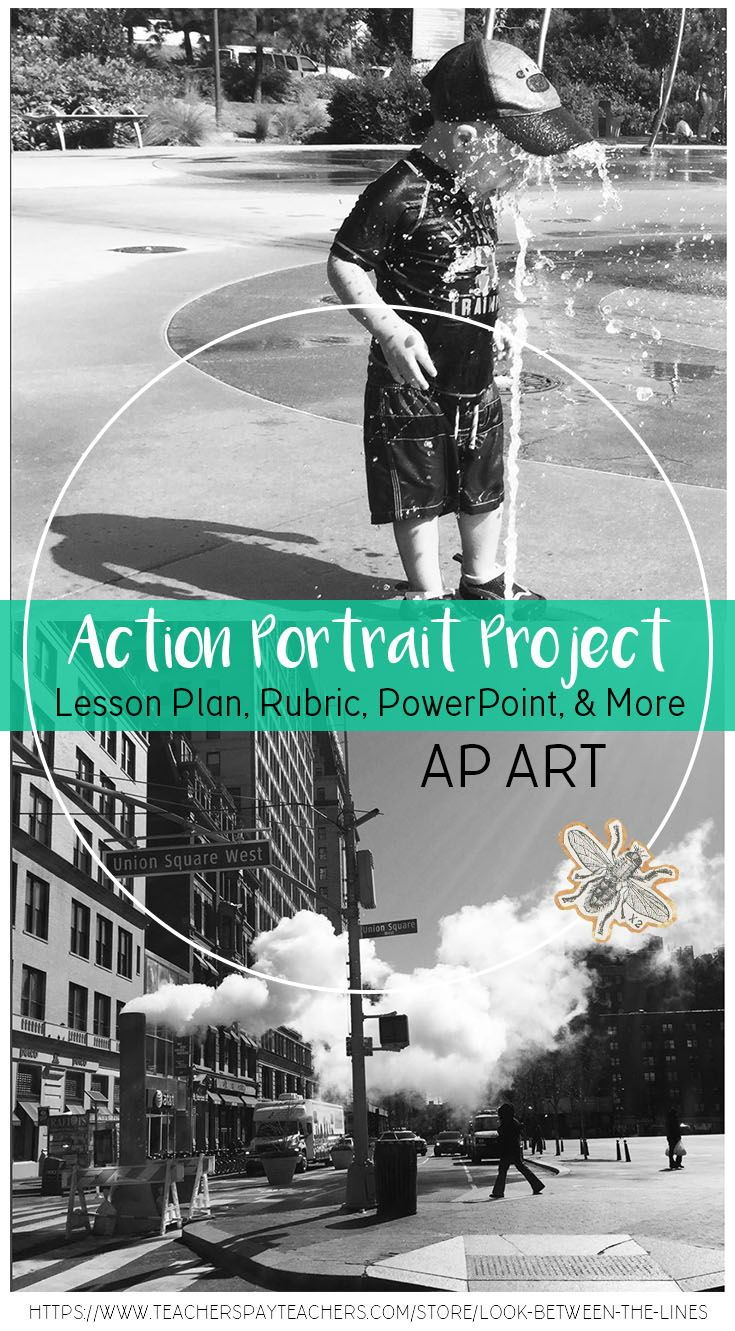 Ap Art Or Advanced Art Project Action Portrait Creating Movement In Art Studio Art Lessons Ap Art Art Projects