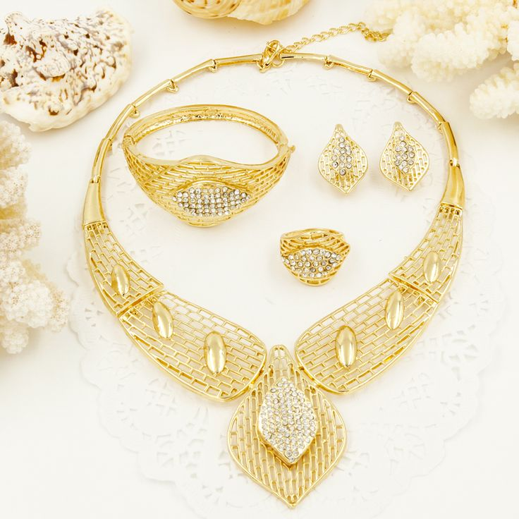 Cheap gold plated jewelry set, Buy Quality necklace earring set directly from China fashion jewelry set Suppliers:                       NewnewJewelry, Fresh yourself!!!   Gif