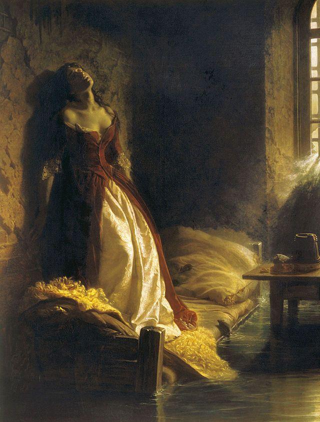 La Principessa Tarakanova, nella Fortezza dei Santi Pietro e Paolo durante l'alluvione (1864, Galleria Tret'jakov).
