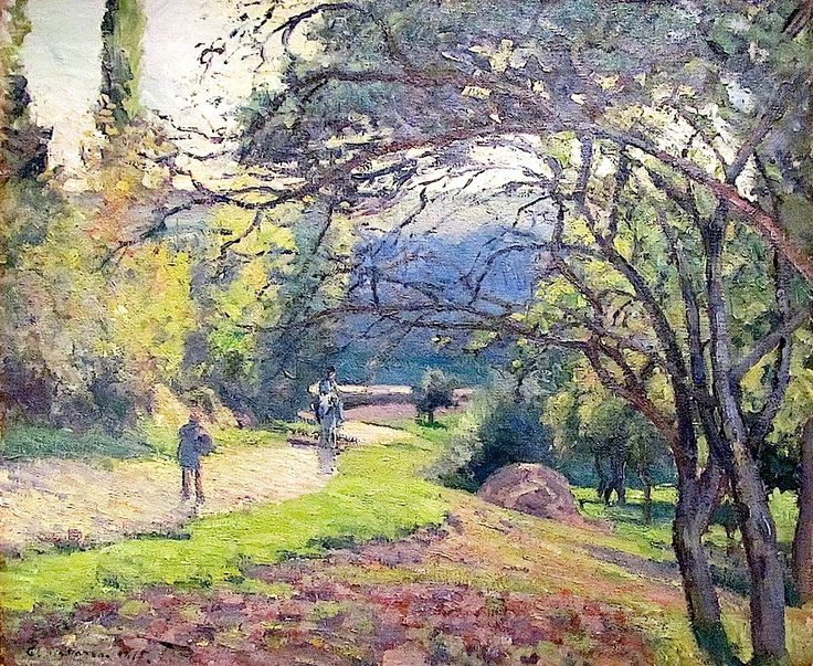Landscape through the Trees, Pontoise by Camille Pissarro (France)