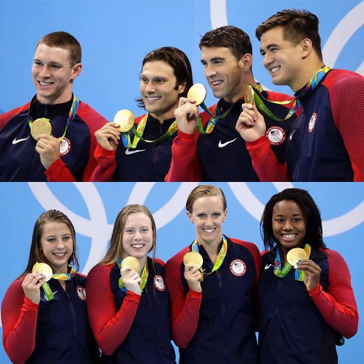 """espnW on Facebook 20160813: USA """"Swimming won 33 medals at #Rio2016, that's more than half of #TeamUSA's total haul (60). Yeah, they're pretty good ... """""""