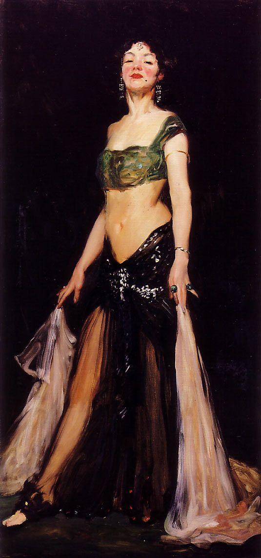 'Salome', 1909  -  Robert Henri  (1865-1929) Danced for John the Baptist head on a platter.